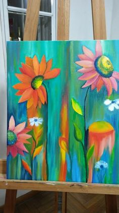 56 New Ideas Flowers Art Painting Oil Canvases Abstract Canvas, Canvas Art, Painting Abstract, Fabric Painting, Painting Flowers, Flower Artwork, Flower Canvas, Art For Art Sake, Beautiful Paintings
