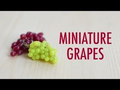 GRAPES: polymer clay tutorial - YouTube