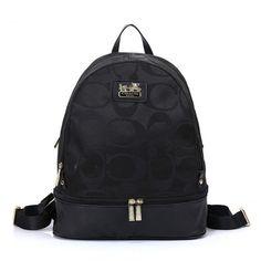 Coach Logo Monogram HW303 Backpack In Black