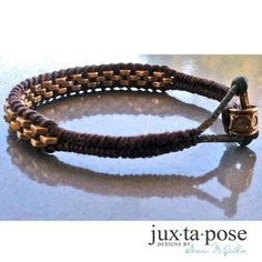 DIY Jewelry: Industrial chic  Hex nut wrapped leather bracelet.  Created by Genna McQuilkin