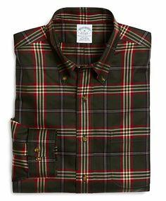 Supima® Cotton Non-Iron Slim Fit Signature Tartan Sport Shirt - Brooks Brothers USD 73.50