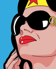 Greg-leon-Guillemin - Wonder Woman in Sunglasses pop art Wonder Woman Art, Comic Books Art, Comic Art, Book Art, Andy Warhol, Bd Pop Art, Illustration Pop Art, Art Illustrations, Superhero Pop Art