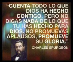 #CharlesSpurgeon  La Gloria solo a Dios ;) #sencillo #Dios
