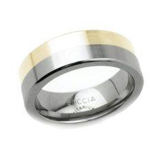 Boccia Damen-Ring Titan gold Gr.54 0107-0154