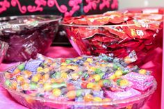 Candy table Little Pony Party, Candy Table, Sprinkles, Breakfast, Hair, Food, Morning Coffee, Candy Stations, Essen
