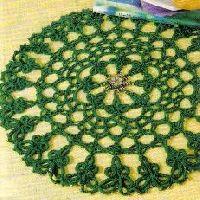 Free Crochet Shamrock Doily Pattern