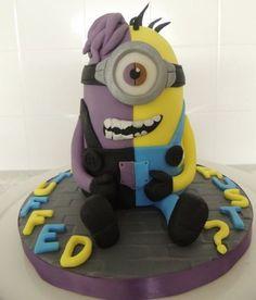 Split personality minion cake