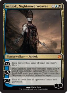 mtg-BLACK-BLUE-MILL-DECK-ashiok-visions-of-beyond-Magic-the-Gathering-rare-cards