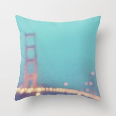 decorative pillow cover San Francisco Golden Gate by MyanSoffia, $34.00