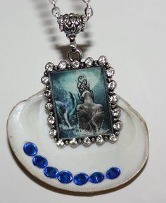 Yemaya Yemonja Orisha Mermaid Inspired Pendant by ModernOrisha