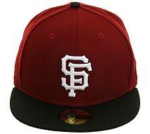 New Era 2Tone San Francisco Giants Hat - Maroon, Black, White