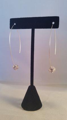 Rhinestone Ball Arch Earrings