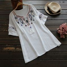 Buy YOYO Embroidered Blouse at YesStyle.com! Quality products at remarkable prices. FREE WORLDWIDE SHIPPING on orders over…