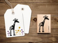 Den #Stempel mit Edda, der #Giraffe und viele weitere gibts in unserem DaWanda-Shop zu ergattern.