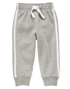 Gear up for active days in our comfy fleece pant. Pieced stripes and ribbed cuffs add great detail.