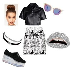 hello by popalah on Polyvore featuring polyvore fashion style Hood by Air Peter Jensen Charlotte Russe Fendi Violent Lips