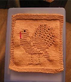 Ravelry: Knitted Turkey Cloth pattern by Rhonda White Knitted Washcloth Patterns, Knitted Washcloths, Dishcloth Knitting Patterns, Crochet Dishcloths, Knit Or Crochet, Knitting Stitches, Crochet Crafts, Yarn Crafts, Crochet Patterns