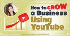 How to Grow a Business Using YouTube http://www.socialmediaexaminer.com/how-to-grow-a-business-using-youtube-sunny-lenarduzzi?utm_source=rss&utm_medium=Friendly Connect&utm_campaign=RSS @smexaminer