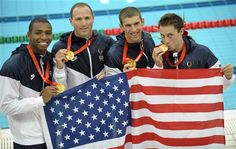 4x100 Relay in the 2008 Olympics. This race was AWESOME! Can't wait for the 2012 Olympics. U.S.A! U.S.A.!