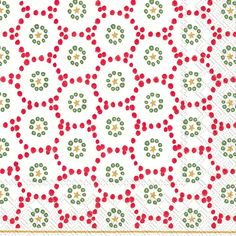 IHR Winter Dotty red Polka Dot Geometric Printed 3-Ply Paper Luncheon Napkins Wholesale L743310