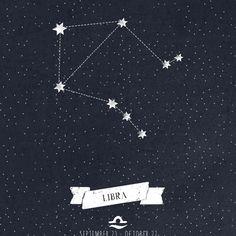 Libra Constellation Print Art Print