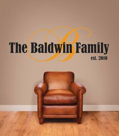 Vinyl Wall Decal Your Family's Last Name by BlueCoutureDesign, $35.00