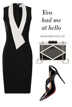 """LIZ"" by elizabethhorrell ❤ liked on Polyvore featuring beauty, Christian Louboutin and Paper Dolls"