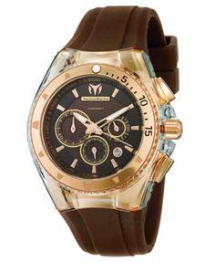 TechnoMarine Watch, Swiss Chronograph Cruise Original Star 40mm Brown and White Silicone Straps 111010 | macys.com