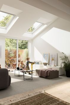 Installing a skylight on the roof is more effective than installing a vertical window. You can use a skylight to make your room feel airier and larger. Home Upgrades, House Design, Room, House, Interior, Home, Roof Window, House Interior, Home Interior Design