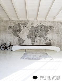 Papier peint map / design original / rustique NEWS PLANET by Christian Benini Wall&Deco Planets Wallpaper, Map Wallpaper, Designer Wallpaper, Newspaper Wallpaper, Wallpaper Designs, Globe Wallpaper, Typography Wallpaper, Amazing Wallpaper, White Wallpaper