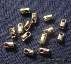 "1 3//8/"" 5 sets Rose Gold Crimp Ends for 35mm 14mm Clasps /& Glass Drop Ribbon"
