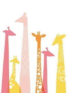 Whimsical Giraffes