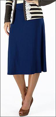 Knit Skirt Mid Length #longer