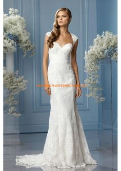 2013 Elegante Brautmode mit spitze und Satin Meerjungfrau mit Schleppe Herzausschnitt