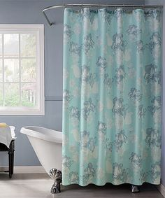 This Blue Floral 13-Piece Shower Curtain Set is perfect! #zulilyfinds
