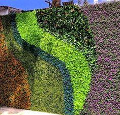 Beauty with no maintenance hassle! Create your own vertical garden with Greensmart Decor Vertical Garden Design, Garden Design Plans, Vertical Bar, Vertical Gardens, Jardin Vertical Artificial, Artificial Boxwood, Fenced Vegetable Garden, Green Wall Decor, Green Facade