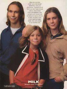 """Flashback to Hanson's """"Got Milk"""" ad!"""