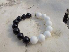 Onyx handmade bracelet 12mm. 13mm. gemstones by LadyArtRali