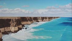 The Great Australian Bight 50x87cm Seascape Paintings, Landscape Paintings, Painter Artist, Classic Paintings, Sunshine Coast, Australian Artists, Still Life, Gallery, Water