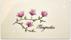How to draw flowers for beginners, magnolia for beginners – Hildur.K.O