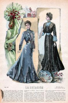 February 16, 1901 Fashion Plate ~ La Estacion
