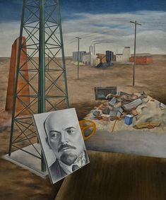 Osvaldo Louis Guglielmi - Phoenix (Portrait in the Desert; Lenin), 1935.