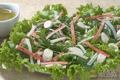 Receita de Salada verde com kani em receitas de saladas, veja essa e outras…