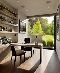 How about entering your office without leaving the comfort and beauty of your home? | Home Office | Office Design | Interior Design | Luxury Interiors http://bocadolobo.com/blog