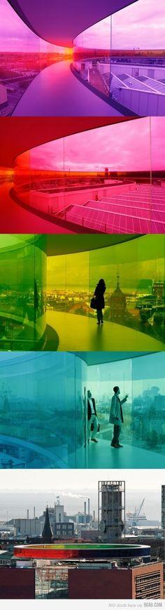 Olafur Eliasson - Your Rainbow Panorama @ ARoS Museum, Aarhus, Denmark
