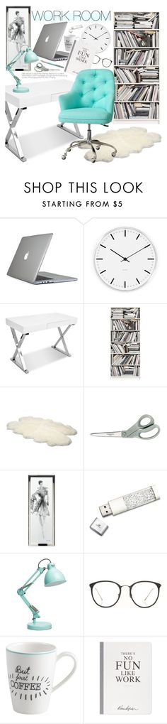"""""""Work Room"""" by pokadoll on Polyvore featuring interior, interiors, interior design, home, home decor, interior decorating, Speck, Rosendahl, Brewster Home Fashions and UGG Australia"""