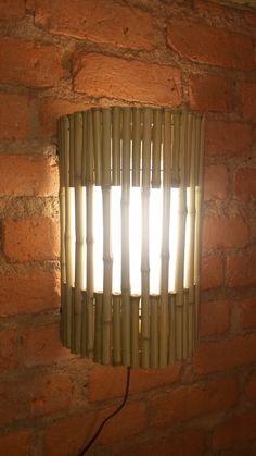 luminaria de bambu,arandela de bambu,artesanato de bambu