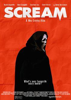"johnny-dynamo: ""Scream by Lewis Semmier "" Best Horror Movies, Horror Films, Scary Movies, Horror Icons, Horror Movie Posters, Movie Poster Art, Scream Franchise, Ghostface Scream, Scream Movie"