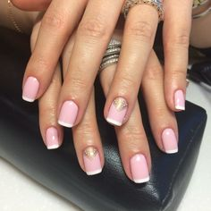 Air nails, Effective nails, Elegant nails, French manicure with pattern, French with pattern, Interesting nails, Manicure nail design, Nails with gold
