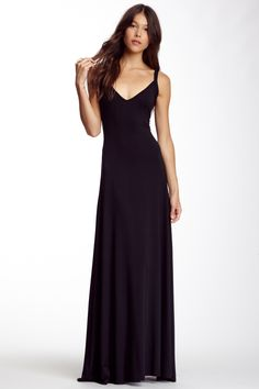 V-Neck Maxi Dress by Go Couture on @HauteLook